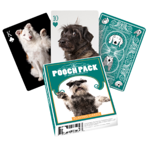 pack of playing cards with photos of dogs